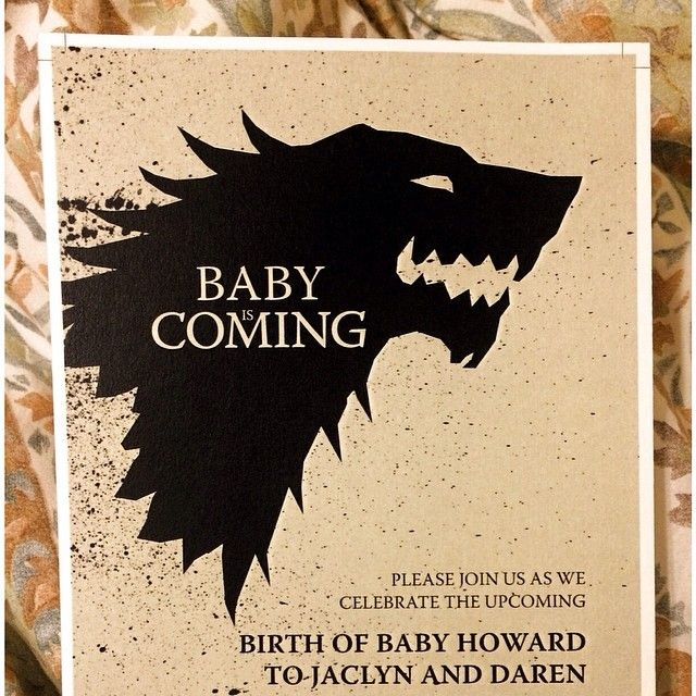 Game of Thrones Themed Baby Shower WinterIsComing