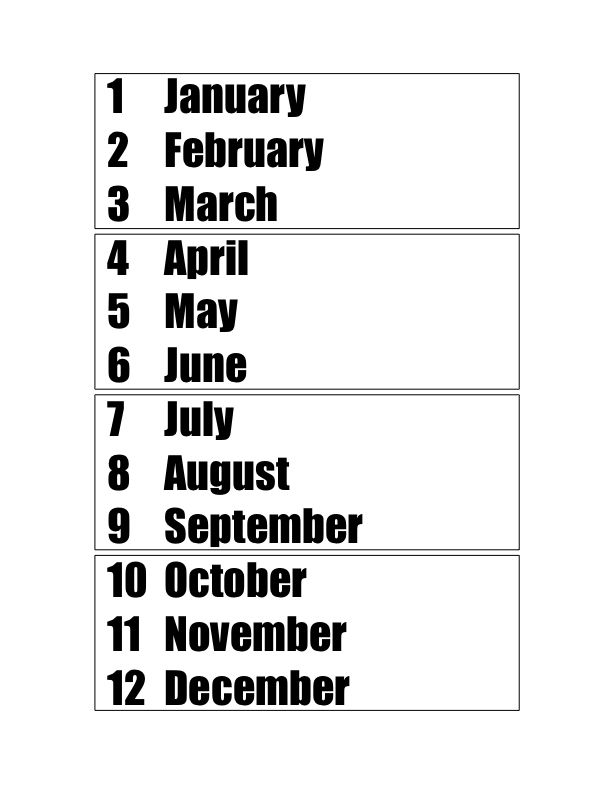 Learn the Months of the Year (& their numbers!), Seasons