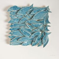 Fish Tile, 32 Fish, ceramic tile, nautical, nature