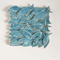 Fish Tile, 32 Fish, ceramic tile, nautical, nature
