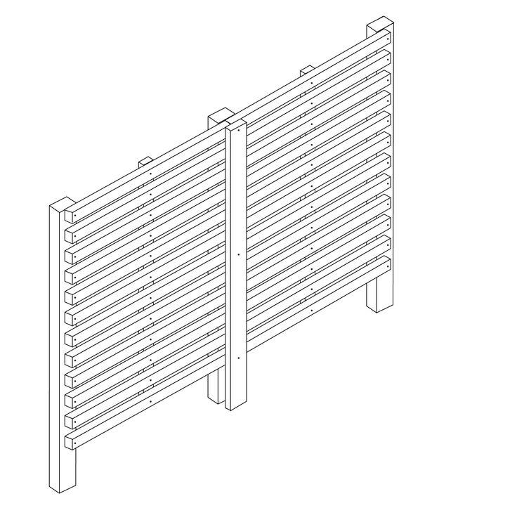 25+ best ideas about Horizontal fence on Pinterest