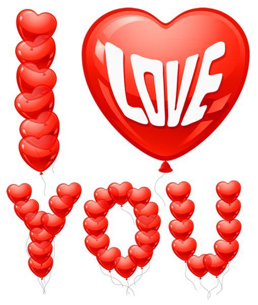love balloons clipart