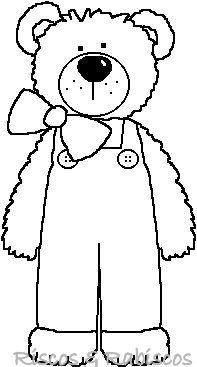 17 Best ideas about Teddy Bear Template on Pinterest