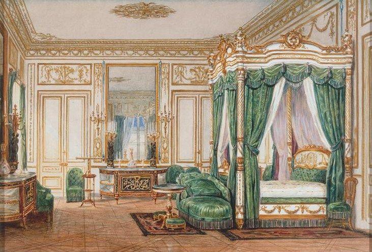 Bedchamber Of Empress Eugnie Chateau De St Cloud Jean