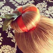 pumpkin bun halloween hair