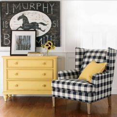 Country Chair Pads Maloof For Sale Gingham! Black Buffalo Check Ethan Allen | Diy Decor Pinterest Rockers, ...