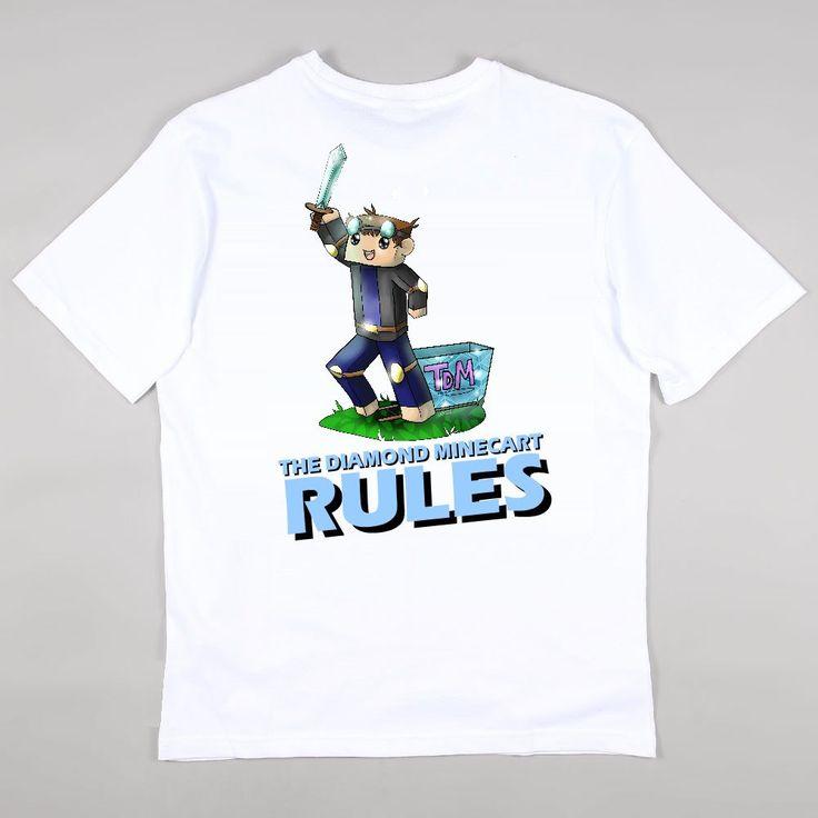 The Diamond Minecart MineCraft Girls Boys T Shirt Age By