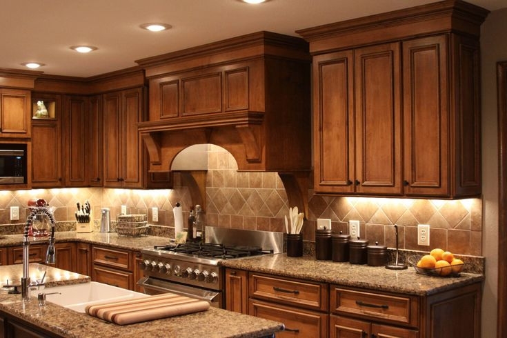 Shilohs Acorn Maple Cabinetry with Black Glaze creates a