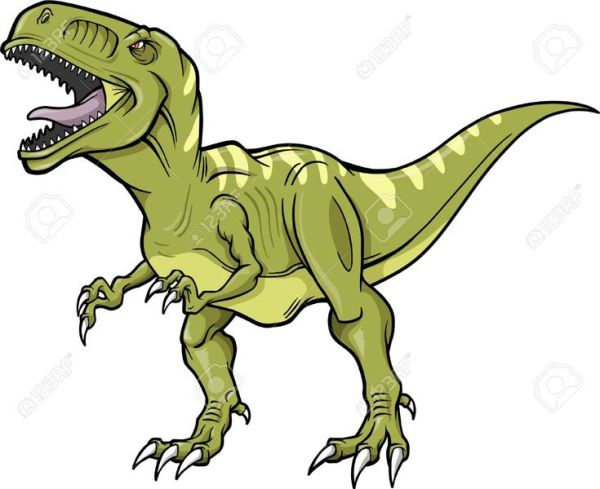 t-rex dinosaur vector illustration