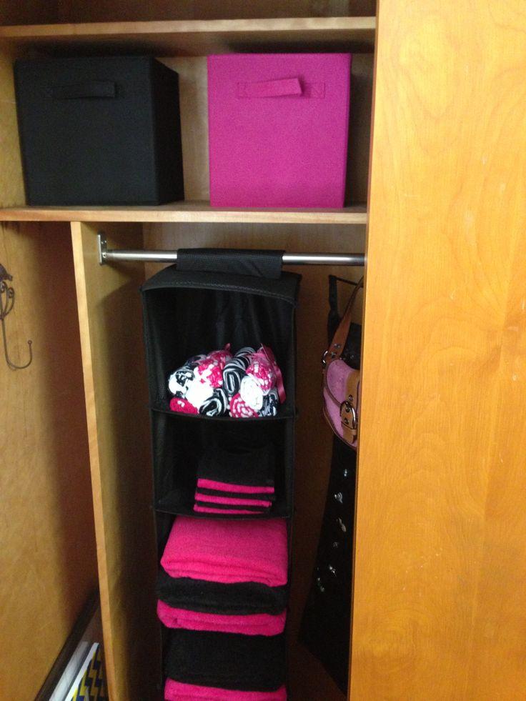 College dorm closet organization ideas UCO  Dorm room and college stuff  Pinterest  Closet