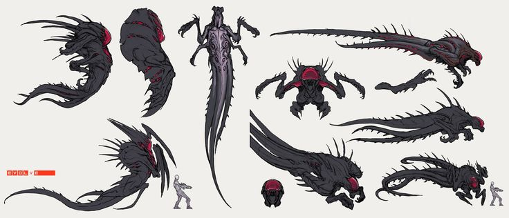 Wraith 01 by Stephen-0akley alien concept monster beast