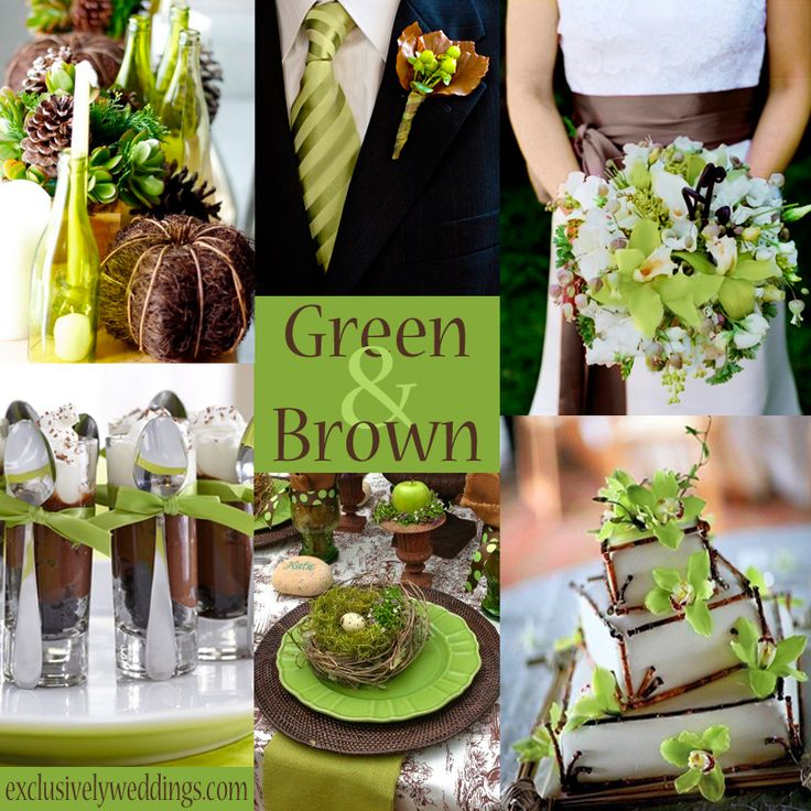 10 ideas about Green And Brown on Pinterest  Woodsy wedding Earth tone wedding and Green