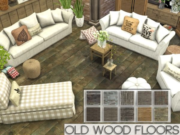 The Sims Resource Old Wood Floors by Pralinesims  Sims 4 Downloads  the sims 4  Pinterest
