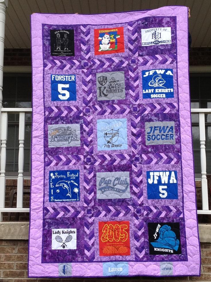Braided sash tshirt quilt quilt sashing ideas