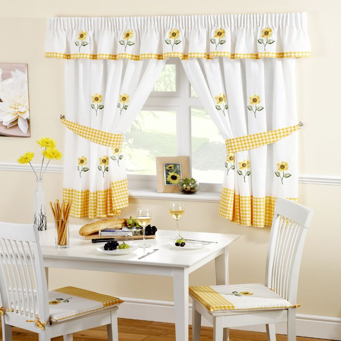 Sunflower Kitchen Curtains Available Sizes