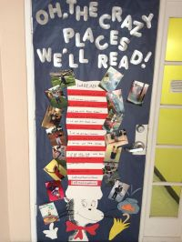Crazy about Reading week! Classroom door decorated based