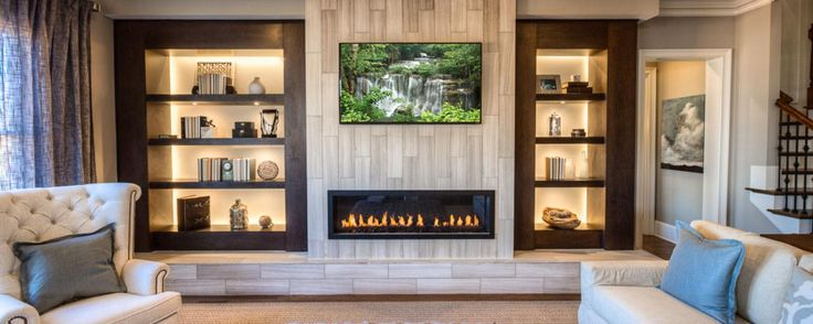 living room furniture atlanta pictures of nice decorated rooms back-lit built in shelves contribute a modern touch to ...