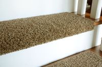 Simply seamless padded stair treads matching diy carpet ...