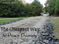 The Cheapest Way to Pave a Driveway | Driveways and Homesteads