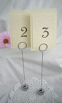 "Wedding Table Place Card Holder, Reusable 9"" Tall Classy ..."