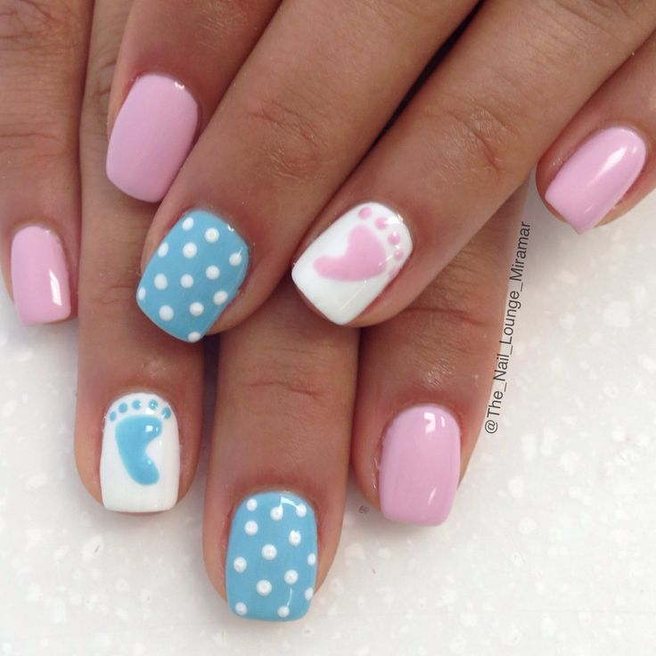 25+ best ideas about Baby Shower Nails on Pinterest