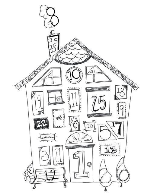 Advent Calendar at @studio_calico FREE printable and