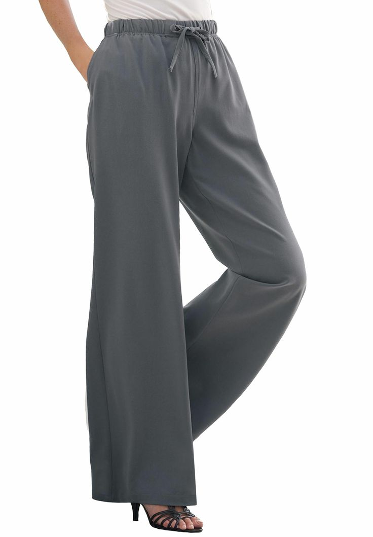 Pants wide leg with drawstring waist by Chelsea Studio