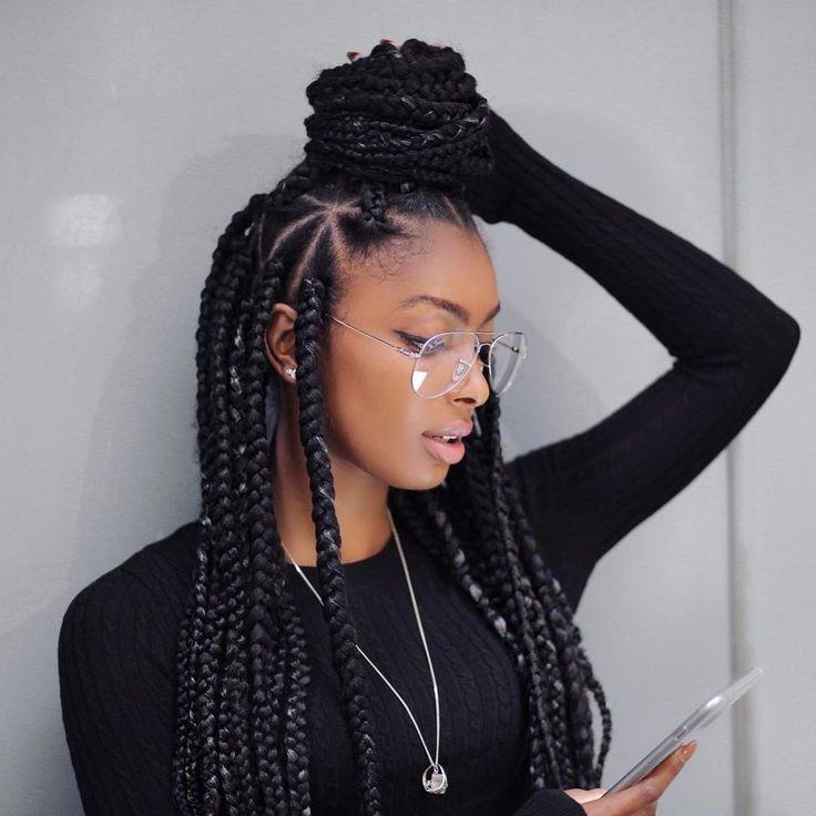 25 Best Ideas About Big Box Braids Hairstyles On Pinterest