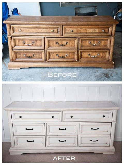 White Refinished Dresser
