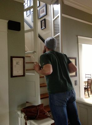 Glass Door At Bottom Of Attic Stairs Studio Ideas
