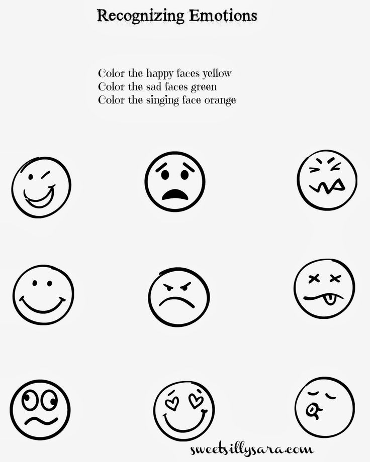 Sweet Silly Sara Recognizing Emotions Worksheet For #kids