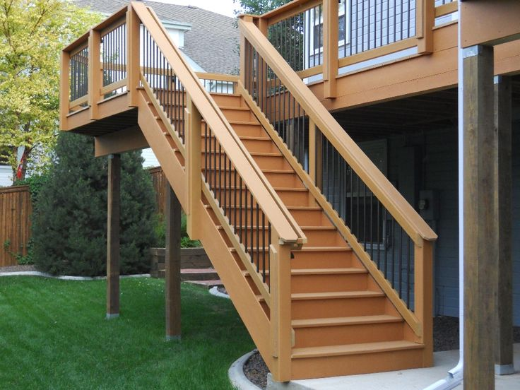 Deck ideas  For the Home  Pinterest  The ojays Stairs and Decks