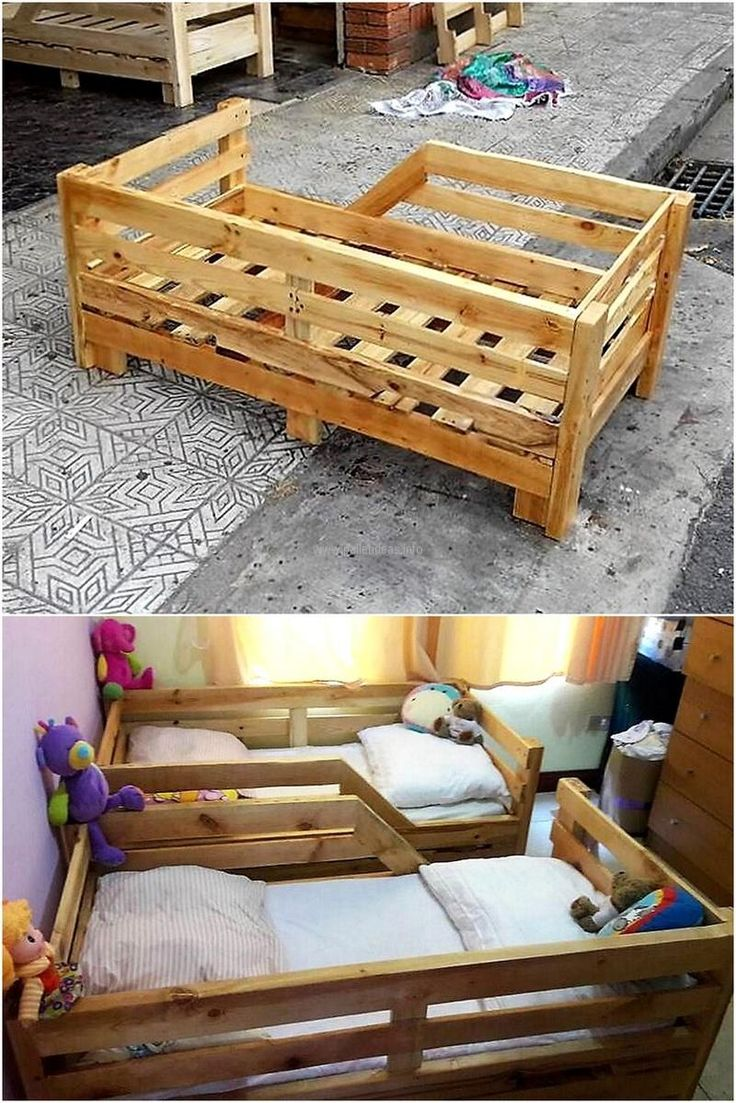 25+ best ideas about Pallet toddler bed on Pinterest