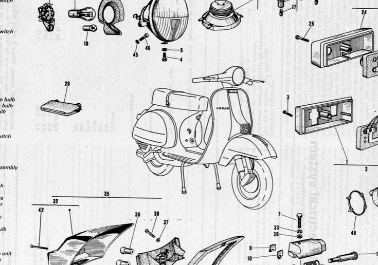 vespa manuals and diagrams