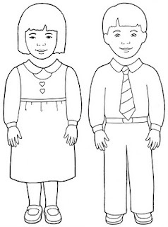 Family Finger Puppets Coloring Pages Sketch Coloring Page