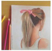 ponytail hair drawing figure