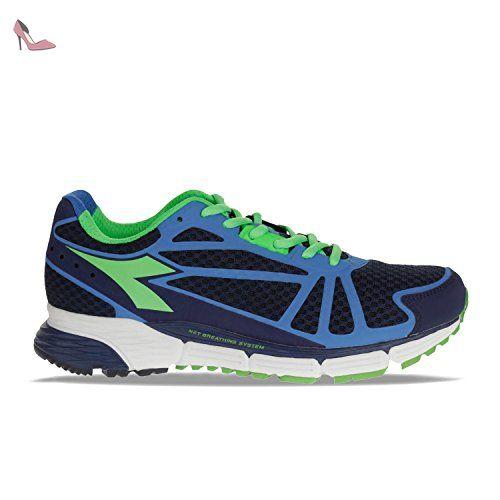 diadora chaussures de marche pour homme patriot blue fluo green palace blue