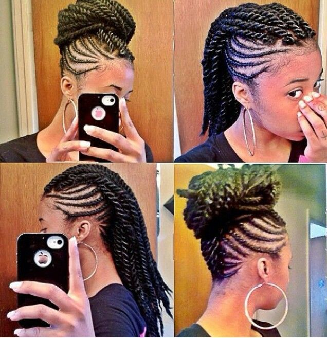Senegalese Twist Mohawk Hairstyles✨ Pinterest Senegalese