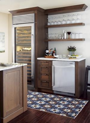 Sleek beverage center for home  Kitchens  Midwest Home