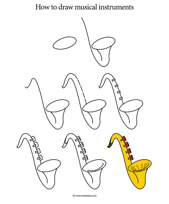 How to Draw Musical Instruments by AmitOffirBooks on Etsy