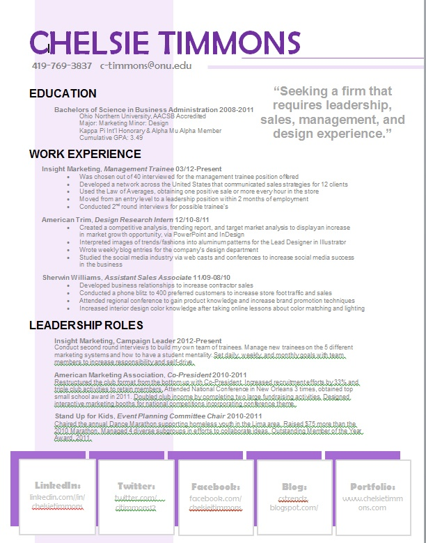 example resume websites for communications