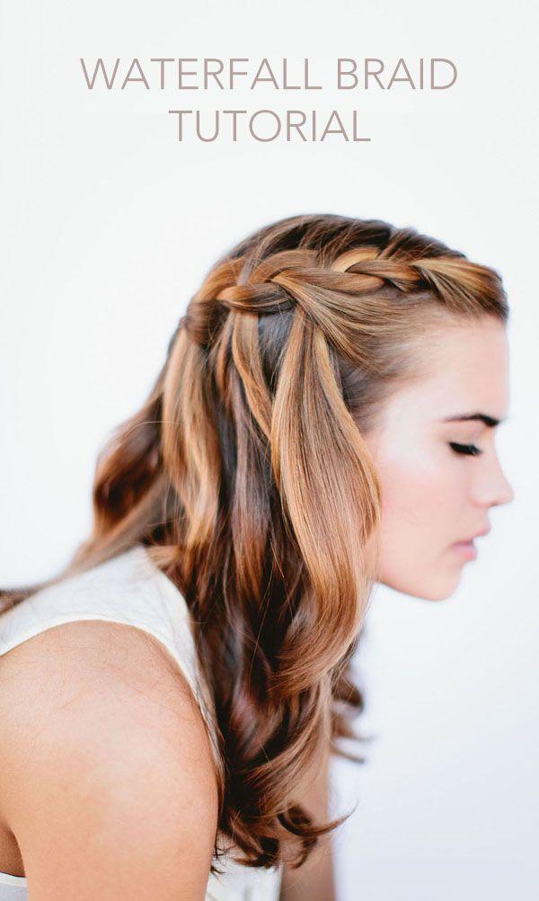Best 25 Wasserfall Frisur Anleitung Ideas On Pinterest