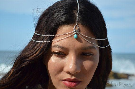 Chain Headpiece Boho Head Jewelry Bohemian By