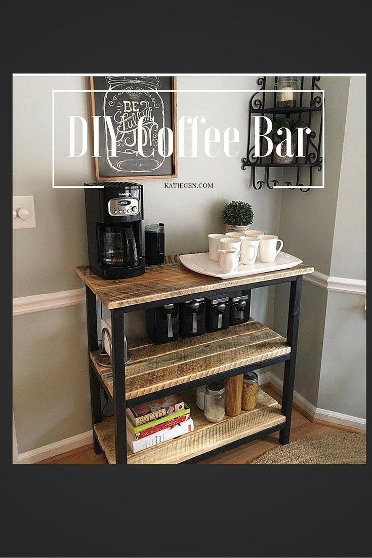 25 Best Coffee Bar Ideas On Pinterest Coffe Bar Kitchen Bar Decor And Farmhouse Coffee And Tea