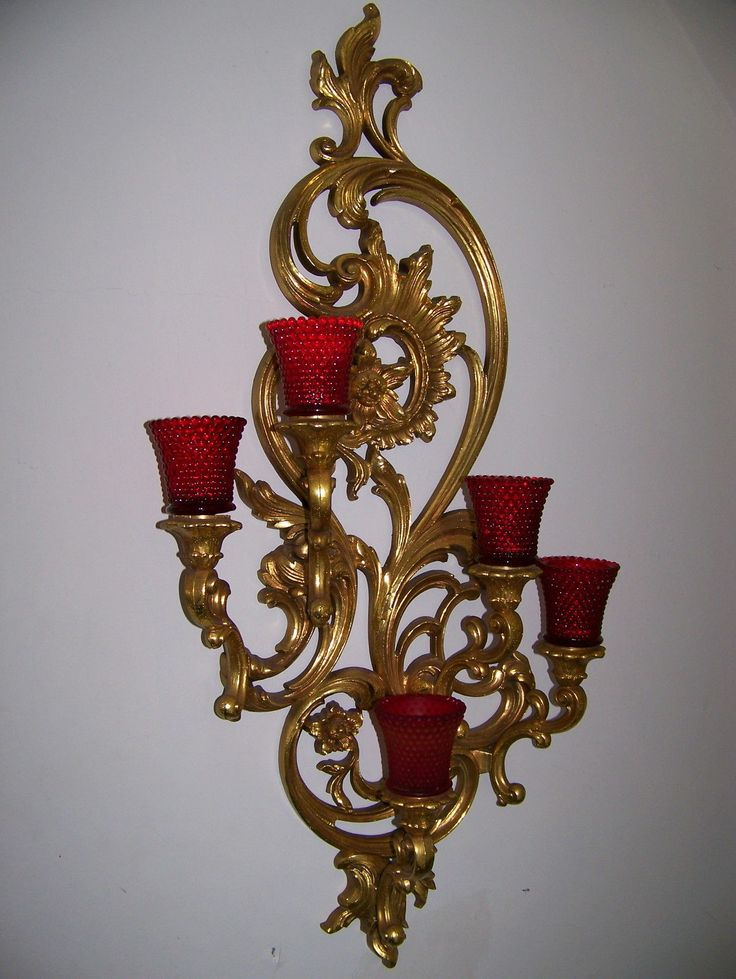 VTG Large 35 Dart Homco Home Interior Syroco Gold 5 Arm