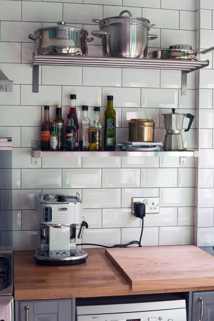 My Finished Bodbyn Ikea Kitchen With Metro Tiles Kitchen