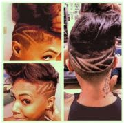 undercut shaved head with design