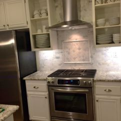 Granite Kitchen Counters Cost To Build Outdoor Love How Our Turned Out! Range Is Kitchenaid, Hood ...