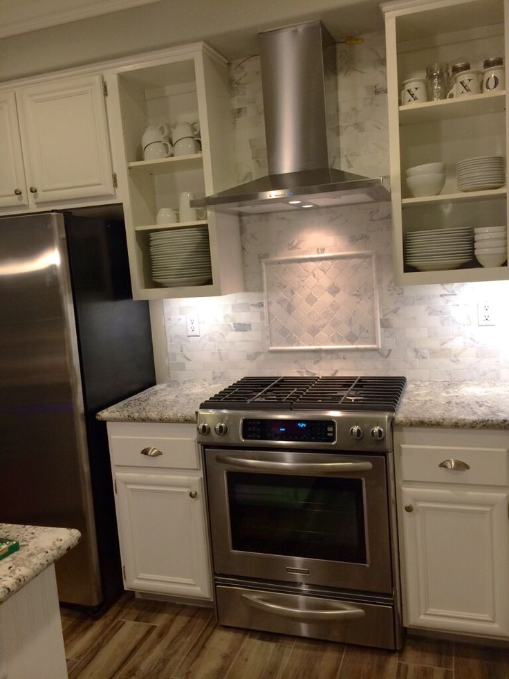 best material for kitchen countertops memory foam mat costco love how our turned out! range is kitchenaid, hood ...