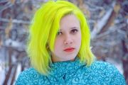 neon yellow hair colors